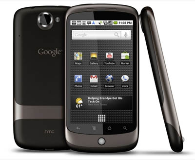 Google Nexus Front, Back and Sideview