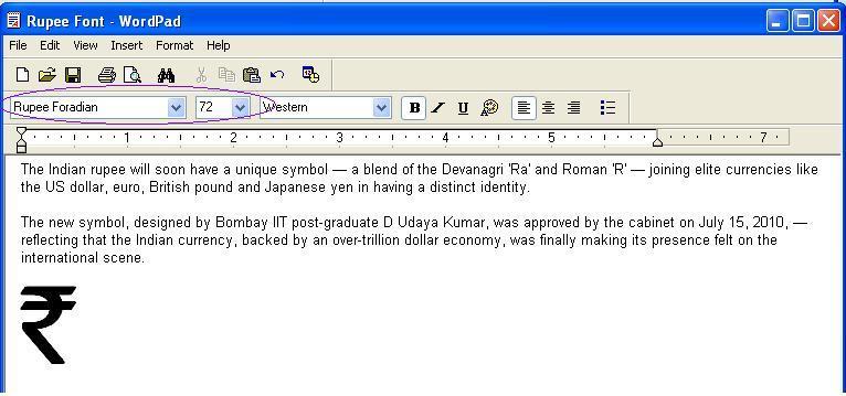 How to Type Rupee Symbol