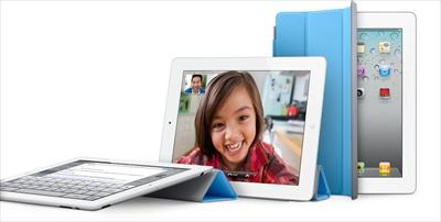 Using the Apple iPad 2 cover as a prop