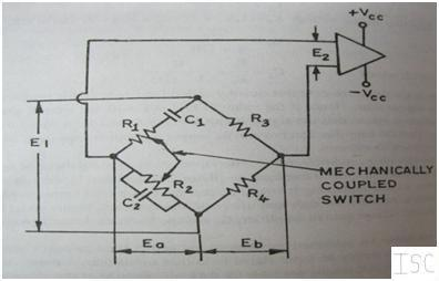 Wien's bridge oscillator circuit