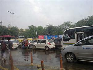 Rain in Delhi created havoc