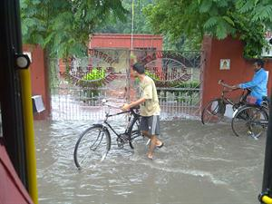 Delhi rain and water logging