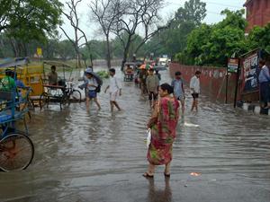 Delhi rain effected life