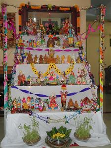 Typical Kolu in Tamil Nadu
