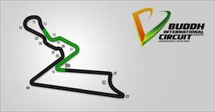 F1 India racing track- logo and sketch