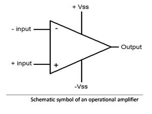 schematic symbol of op amp