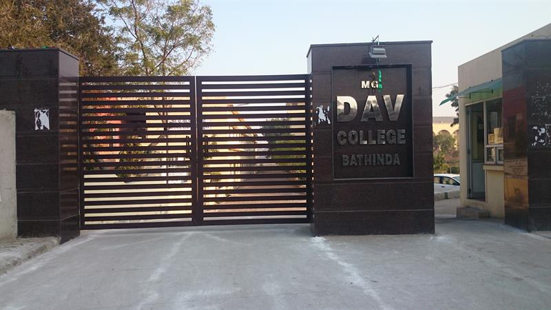 Front gate of DAV college bathinda