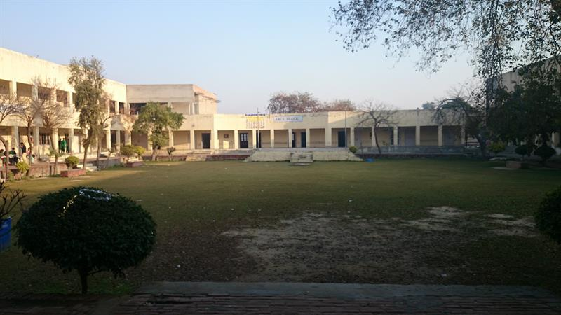 View of the internal ground and arts block DAV college