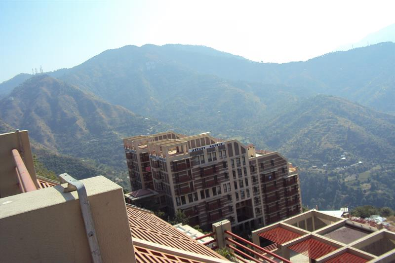 View of girls hostel geeta bhavan in juit solan