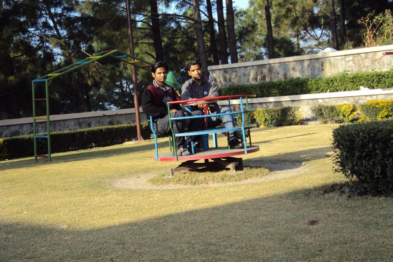 Play ground for kids of staff members in juit solan