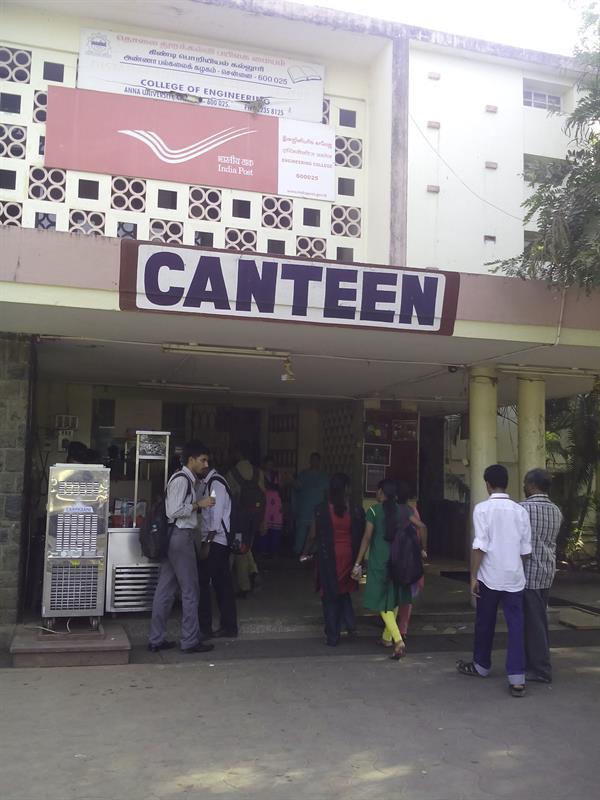 Canteen facility in College of Engineering Anna University
