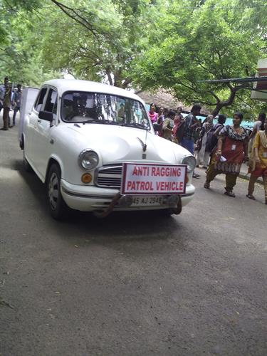 Anti ragging patrol vehicle in  College of Engineering, Anna University