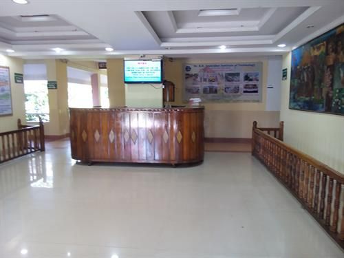 Image of reception counter of Dr BR Ambedkar Insitute of Technology