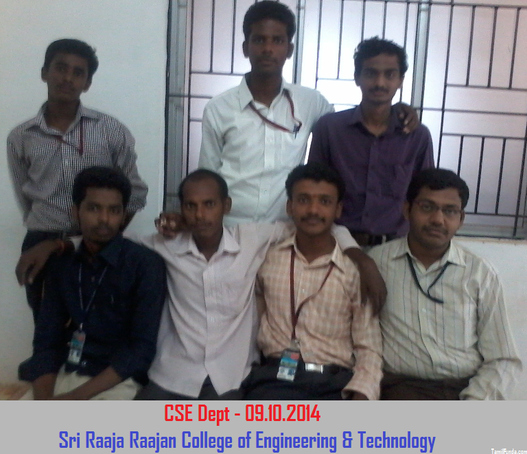 CSE Department Students Group Photo Sri Raaja Raajan College of Engineering and Technology Karaikudi