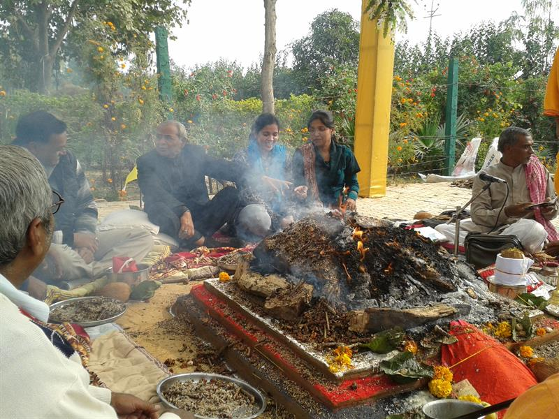 Yagya on foundation day of AKSU