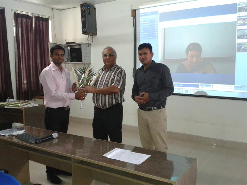 Inaguration of workshop on CCNA by PRO-VC sir