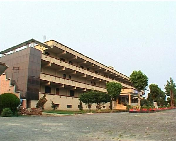 Side view of main building at Hi-tech Institute of Engineering & Technology, Ghaziabad
