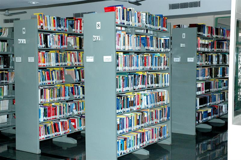 Library reference section in JUET guna