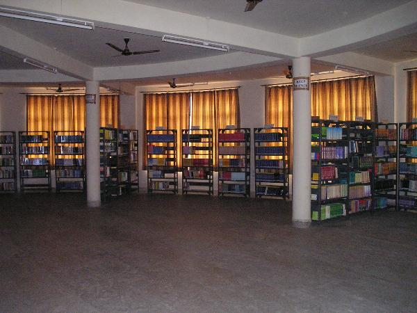 Photo of central library in Nagaji Institute of Technology & Management