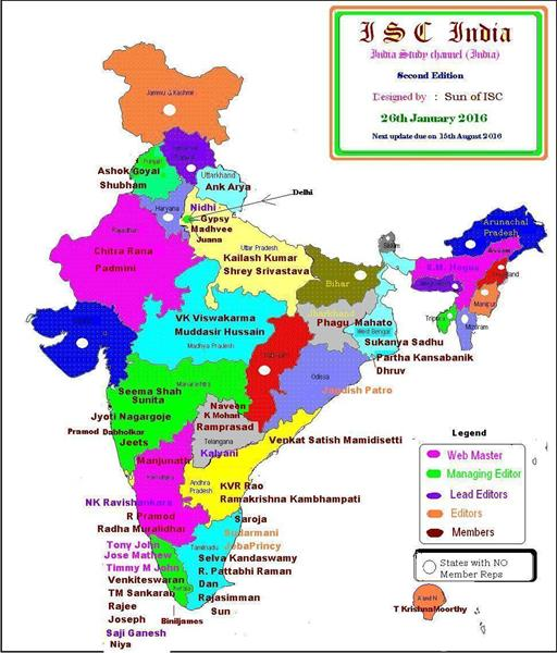 ISC india map