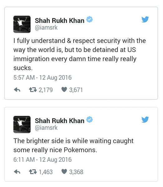 Shah rukh khan Twitter comment on US immigrants at Los Angeles airport