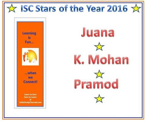 ISC Star of the Year Winners 2016