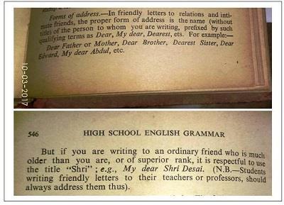 Friend Salutation Grammar Rule