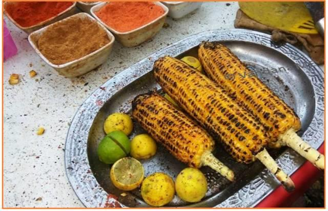 Enjoy Hot Corn with Lime and Spices!