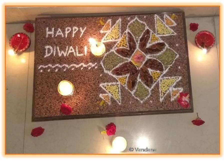 Diwali Rangoli with Pulses