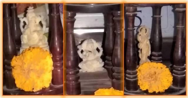 Lord Ganesha, Goddess Lakshmi, Goddess Saraswati
