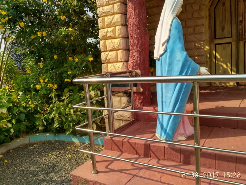 St. Mary going into her house as seen in Holy Land, Pinakadimi, Eluru, A.P.