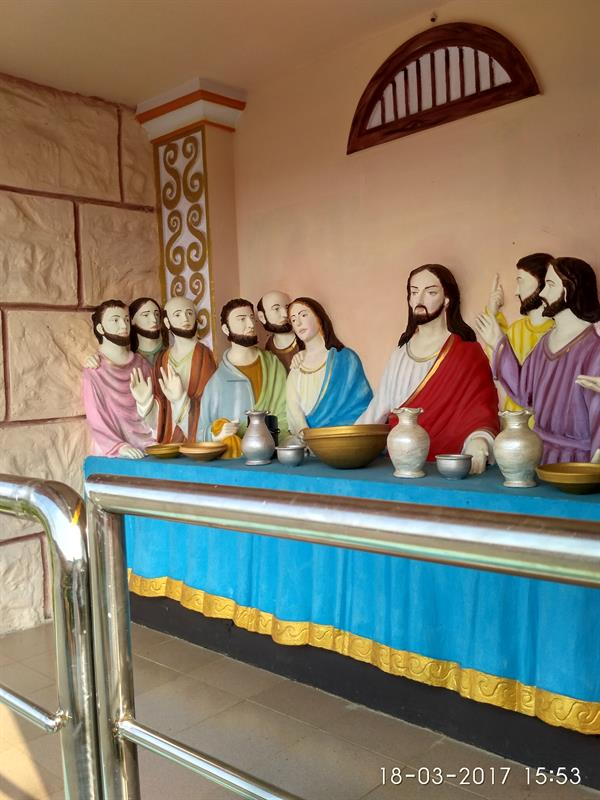 The Last Supper-A beautiful civic structure from Holy Land (Replica of Holy Land of Israel), Eluru