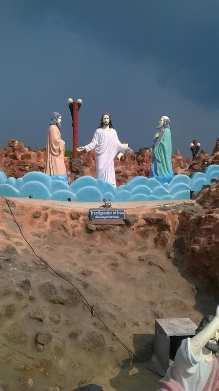 """Transfiguration of Jesus""-A civic structure seen at Holy Land , Pinakadimi, Eluru, A.P."