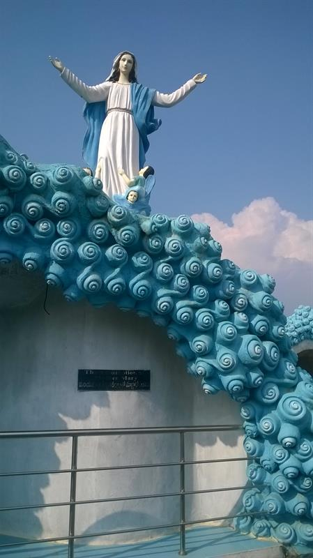 "A civic structure in Holy Land -""The ascension of Mother Mary"" at Pinakadimi, Eluru, A.P. India"