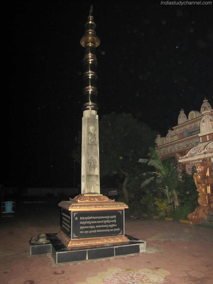 Gaja stambam at dattatreya swamy temple at pithapuram