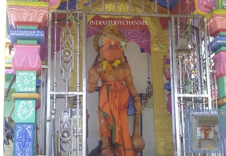 Diety of Bala Hanuman as seen in Sri Ayyappa Swamy Temple, Peda Dornala, Prakasam District, A.P.