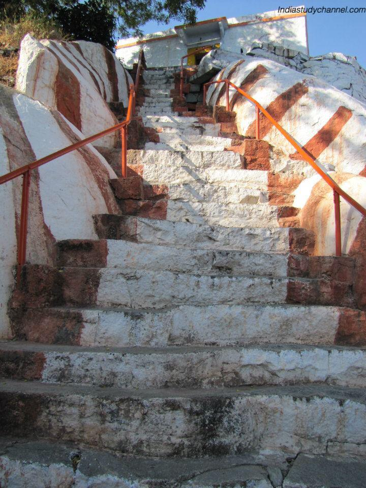 Stairs to lord shiva temple in Pottipalli village