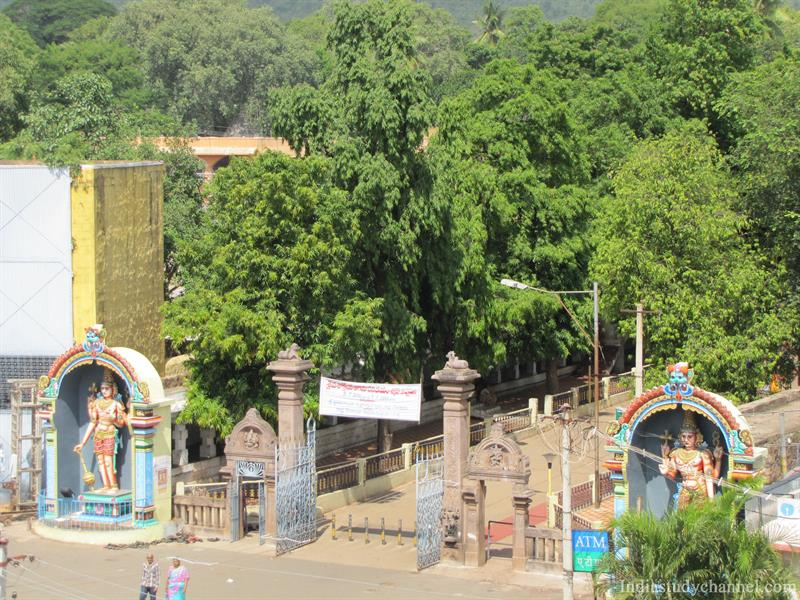 Entrance of Sri Mallikarjuna Swamy Temple Srisailam