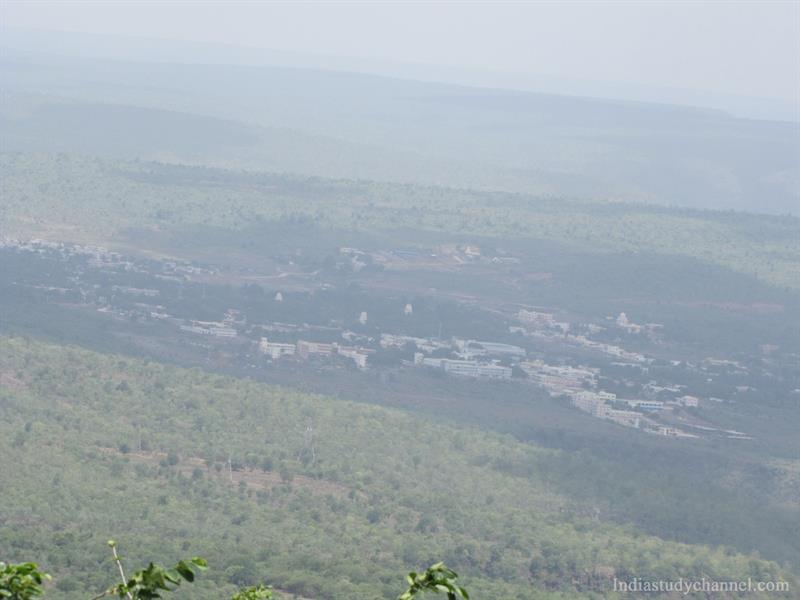 A picteresque view from Shikaram, Srisailam