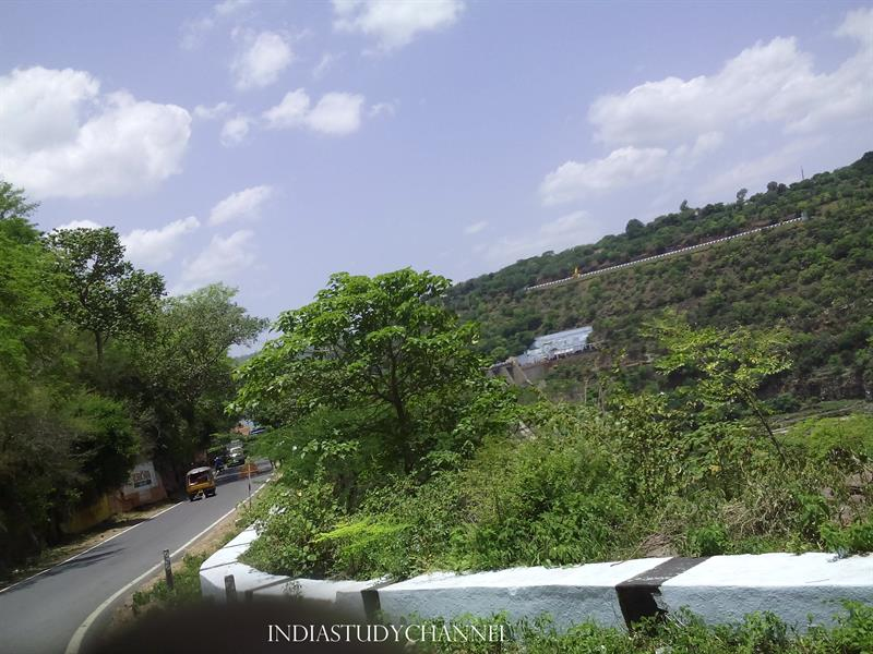 Road way to Srisailam hill top through Nallamala forest, Srisailam, Kurnool District, A.P.