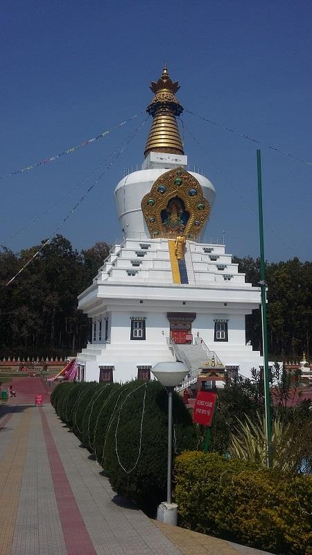 One of the stupas in Dehradun buddha temple