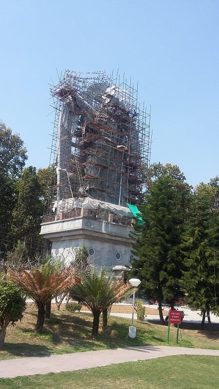 Budhha statue in Dehradun buddha temple under construction
