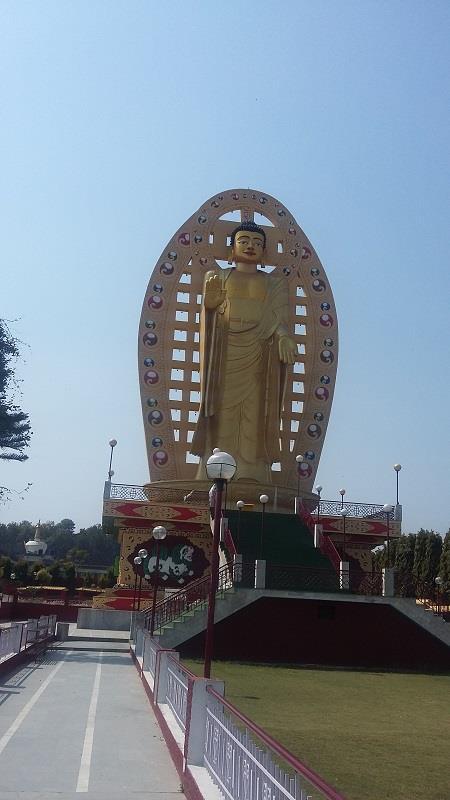 A big statue of Lord Buddha in Buddha temple, Dehradun