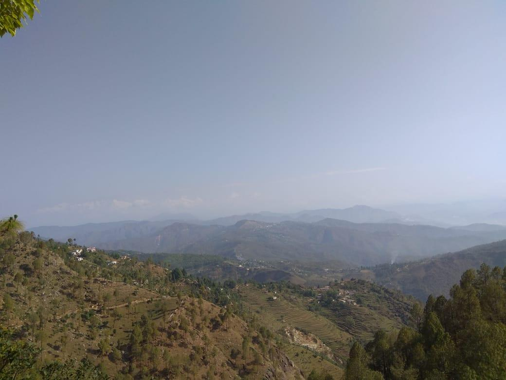 View of Himalyan range and Valley, Gangolihat