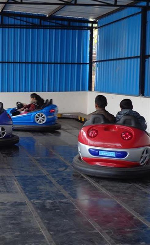 Children enjoy the ride in Pinjore garden, Chandigarh