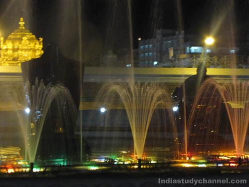 Laser Graphic and Lighting Show in Tirumala