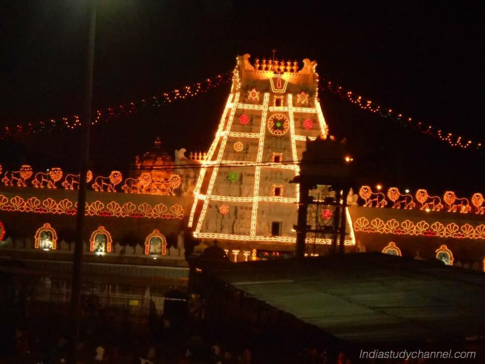 Lights decoration at Tirumala Tirupati Devasthanam