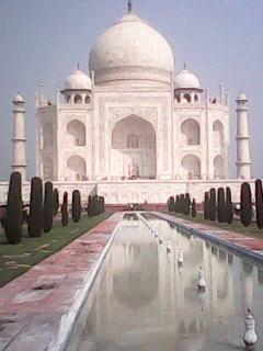 Beautiful view of new wonders of the world Taj Mahal