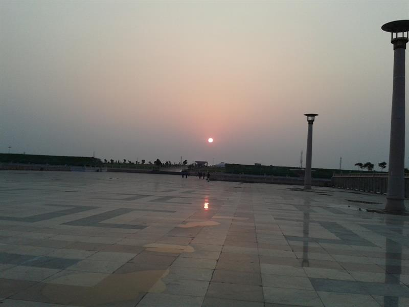 Sunset at eco park lucknow