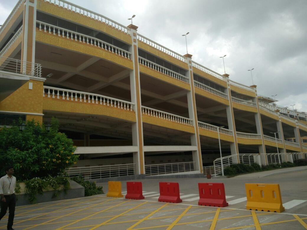Parking area in Infosys at Mysore campus